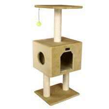 "42"" Classic Cat Tree in Beige"
