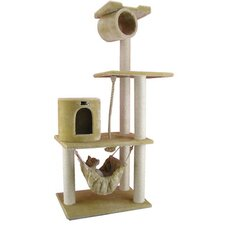 "62"" Classic Cat Tree in Beige"