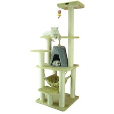 "65"" Classic Cat Tree in Beige"