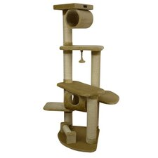 "63"" Classic Cat Tree in Beige"