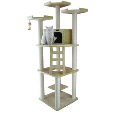 "80"" Classic Cat Tree in Beige"