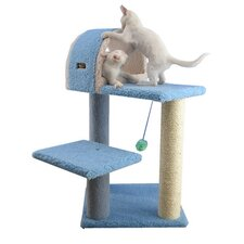 "30"" Classic Cat Tree in Sky Blue"