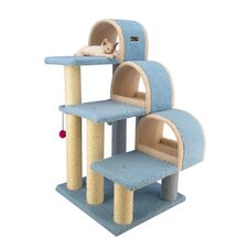 "38"" Classic Cat Tree in Sky Blue"