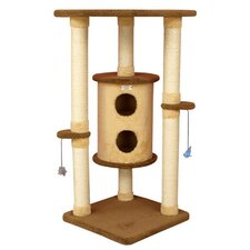 "44"" Premium Cat Tree in Golden Rod and Tan"