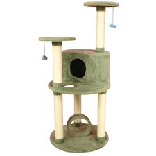 "60"" Ultra-Thick Premium Cat Tree in Dark Sea Green"