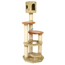 "66"" Soft Heavy Premium Cat Tree in Khaki"