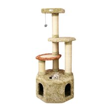 "<strong>Armarkat</strong> 57"" Premium Soft Heavy Cat Tree in Khaki"