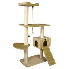 "58"" Classic Cat Tree in Beige"
