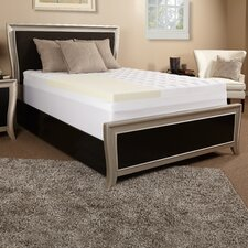 "3.5"" Memory Foam and Fiber Mattress Topper"
