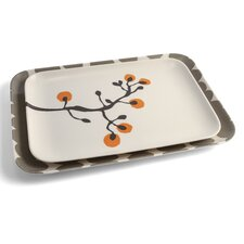 2 Piece Large Serving Tray Set