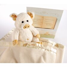 "<strong>Baby Aspen</strong> ""Pig in a Blanket"" 2 Piece Gift Set"