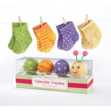 "<strong>Baby Aspen</strong> ""Caterpillar Crawlers"" Baby Socks Gift Set"