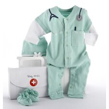 "<strong>Baby Aspen</strong> ""Big Dreamzzz"" Baby M.D. 3 Piece Layette Set"