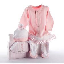 "<strong>Baby Aspen</strong> ""Big Dreamzzz"" Baby Ballerina 2 Piece Layette Set"