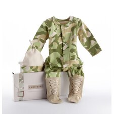 "<strong>Baby Aspen</strong> ""Big Dreamzzz"" Baby Camo 2 Piece Layette Set"