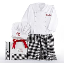 "<strong>Baby Aspen</strong> ""Big Dreamzzz"" Baby Chef 3 Piece Layette"