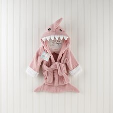 "<strong>Baby Aspen</strong> ""Let the Fin Begin"" Shark Robe in Pink"