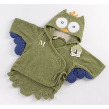 ''My Little Night Owl'' Hooded Terry Spa Robe