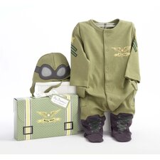 <strong>Baby Aspen</strong> ''Big Dreamzzz'' Baby Pilot 2-Piece Sleep Set