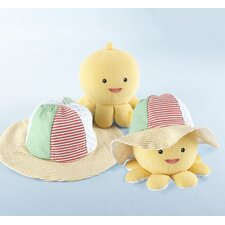 Under the Sea Baby Sun Hat and Plush Octopus Gift Set