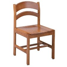 "Select Series 16"" Solid Oak Arched Back Chair"