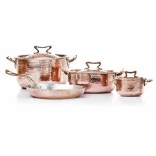 Hand-Forged Copper 7-Piece Cookware Set with Crate