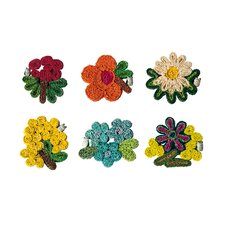 Florigraphie 6 Piece Straw Coaster Set