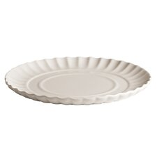 "Estetico Quotidiano 7.2"" Porcelain Ripple Plate (Set of 6)"