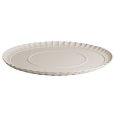 "Estetico Quotidiano 14.7"" Porcelain Ripple Plate"