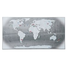 """The World"" Graphic Art Plaque"