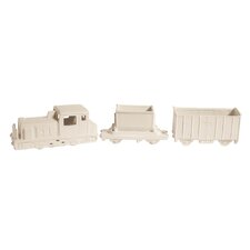 Memorabilia 3 Piece Porcelain My Train Figurine Set