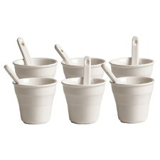 Estetico Quotidiano Coffee Cup with Stirrer (Set of 6)