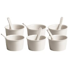 Estetico Quotidiano Ice Cream Bowl with Spoon (Set of 6)