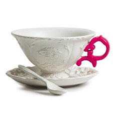 I-Wares Porcelain 3 Piece Teacup & Saucer Set (Set of 4)