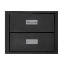 "Stack 19.7"" Metal 2 Drawer Cabinet"