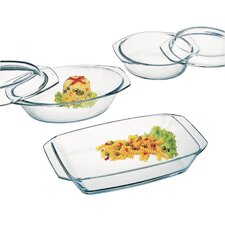 5-Piece Borosilicate Glass Casserole Set