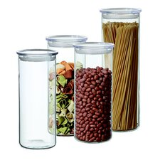 4-Piece Cylinder Storage Container Set