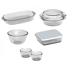 8-Piece Borosilicate Glass Casserole Set