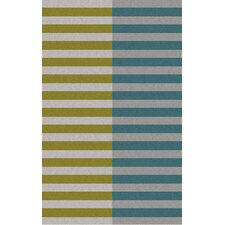 Double Stripe Moss Rug