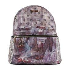 "20"" New York Print Backpack"