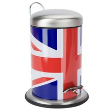 Cool Britannia 3-Litre Union Jack Pedal Rubbish Bin