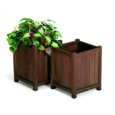 Redwood Square Planters (Set of 2)