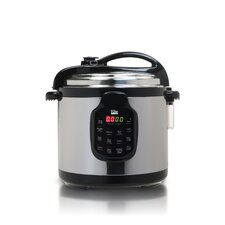 Platinum 6-Quart Electric Stainless Steel Pressure Cooker with Stainless Steel Pot