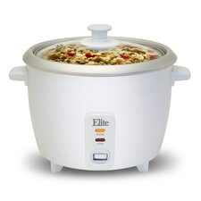 Cuisine 6-Cup Rice Cooker with Glass Lid