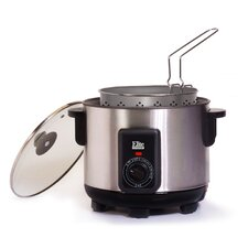 Cuisine 4.73 Liter Stainless Steel Multi-Function Cooker and Deep Fryer