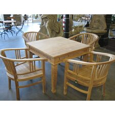Betawi Garden 5 Piece Square Dining Set