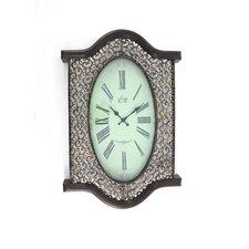 Metal and Wood Wall Clock (Set of 2)