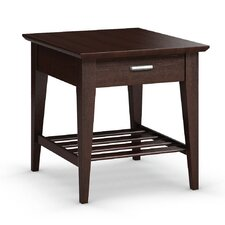 Currents Collection End Table With Drawer