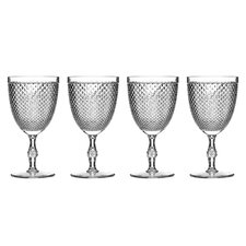 <strong>Premier Housewares</strong> 9cm Plastic Wine Glasses in Clear Diamond (Set of 4)