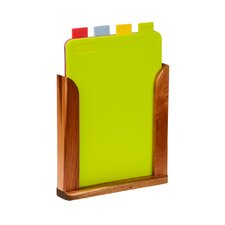 24 cm Chopping Board with Stand (Set of 4)